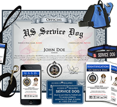 Service Dog and Emotional Support Animal Certification and Gear