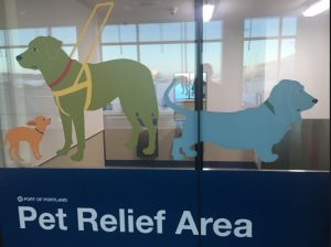 portland airport pet relief area