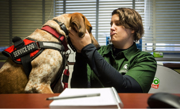 Service Dogs Making Big Difference on Campus
