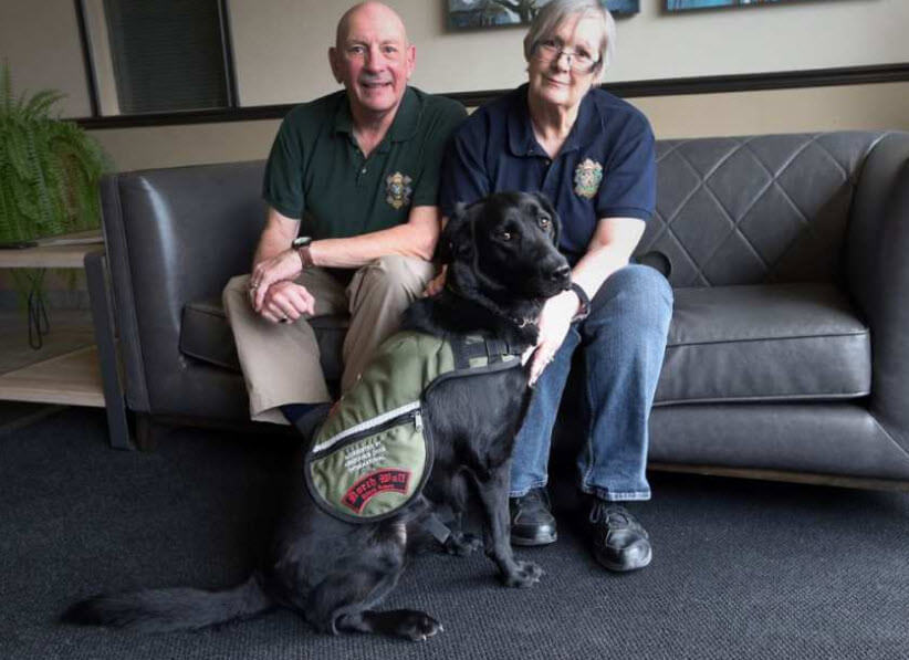 Veteran with PTSD Gets On with Life Because of Service Dog